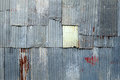 A rusty corrugated iron metal texture Royalty Free Stock Photo