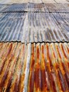 Rusty corrugated metal roof Royalty Free Stock Photo