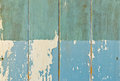 Rusty damage blue hardwood door for background use Royalty Free Stock Photos