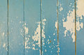 Rusty damage blue hardwood door for background user Royalty Free Stock Photography