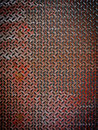 Rusty diamond metal plate Royalty Free Stock Photo