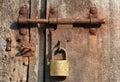 Rusty door lock Photos libres de droits