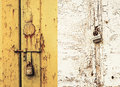 Rusty door and lock Royalty Free Stock Photo