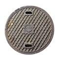 Rusty drain lid Royalty Free Stock Photo