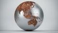 Rusty earth oceania asia chromed Stock Image