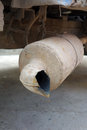 Rusty exhaust pipe . Royalty Free Stock Photo