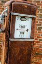 Rusty gasoline pump antique old tall oldtime gas Royalty Free Stock Photos