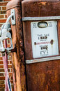 Rusty gasoline pump antique old tall oldtime gas Royalty Free Stock Images