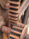 Rusty gear detail Royalty Free Stock Photo