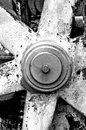 Rusty gear wheel in black and white Royalty Free Stock Images