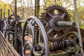 Rusty gear wheel with oil Stock Photography