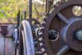 Rusty gear wheel with oil Royalty Free Stock Image