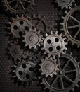 Rusty Gears And Cogs Metal Bac...