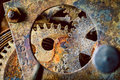 Rusty gears Royalty Free Stock Photo