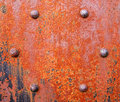 Rusty girder with bolts close view of a very bolted rivets Royalty Free Stock Photos