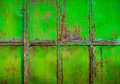 Rusty green painted metal with cracked paint texture color grun grunge background horizontal Stock Photo