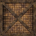 Rusty grid plate seamless texture this is illustration serie it means you can place a sample side by side and repeat it infinitely Royalty Free Stock Photography