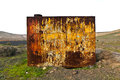 Rusty grunge metal background of an old watertank Royalty Free Stock Photo