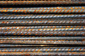 Rusty grunge steel rods Stock Image