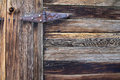 Rusty hinge image of old wood and a rust Royalty Free Stock Photography