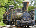 Rusty historic steam locomotive Royalty Free Stock Photo