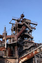 Rusty industrial ruin in duisburg germany Stock Photos