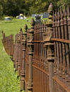 Rusty Iron Cemetary Fence Stock Photo