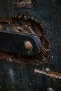 Rusty iron door details Immagine Stock Libera da Diritti