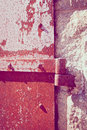 Rusty iron door details Fotografia de Stock Royalty Free