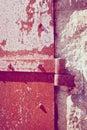 Rusty iron door details Photographie stock libre de droits