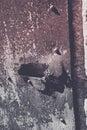 Rusty iron door details Fotografia Stock Libera da Diritti