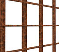Rusty iron frame Royalty Free Stock Photos