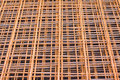 Rusty iron net ferro-concrete Royalty Free Stock Photography