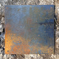 Rusty iron plate Royalty Free Stock Photo
