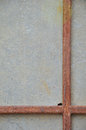 Rusty iron rods the with gypsum board Stock Photos