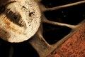 Rusty iron surface damaged close up photo Stock Image
