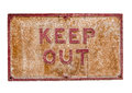 Rusty Keep Out Sign Royalty Free Stock Photo