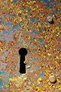 Rusty key-hole Royalty Free Stock Photo