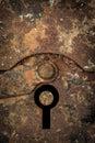 Rusty keyhole Royalty Free Stock Photo