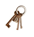 Rusty keyring Royalty Free Stock Image