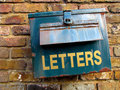 Rusty letterbox Royalty Free Stock Photo