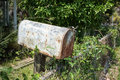 Rusty Mailbox at Abandoned House Stock Photography