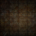 Rusty metal background perforated with a grunge rust effect Stock Images
