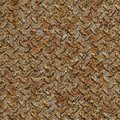 Rusty metal diamond plate seamless texture weathered surface tileable Royalty Free Stock Photo