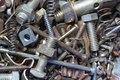Rusty Metal Fasteners Stock Image