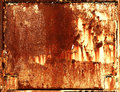 Rusty metal frame background Royalty Free Stock Photo