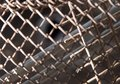 Rusty metal grid as a background. texture