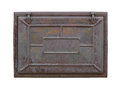 Rusty metal hatch isolated. Royalty Free Stock Photo