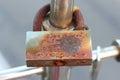 Rusty metal lock Royalty Free Stock Photo