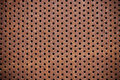 Rusty metal net closeup, texture Royalty Free Stock Photo